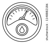 petrol dashboard icon. outline... | Shutterstock .eps vector #1148882186
