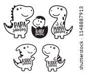 cute dinosaur family cartoon... | Shutterstock .eps vector #1148887913