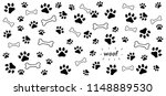 dog bone dog bones footsteps... | Shutterstock .eps vector #1148889530
