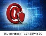 3d rendering spam shield  | Shutterstock . vector #1148894630