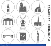 European Capitals   Icon Set ...