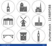 European Capitals   Icon Set ...