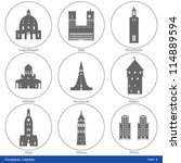European Capitals - Icon Set (Part 3)
