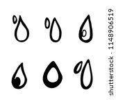 hand drawn drops doodles set.... | Shutterstock .eps vector #1148906519