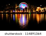 amusement park at night   Shutterstock . vector #114891364