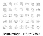 collection of line gray icons... | Shutterstock .eps vector #1148917550