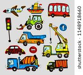 vector cars stickers. funny... | Shutterstock .eps vector #1148918660