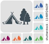 stylized icon of tourist tent.... | Shutterstock .eps vector #1148924639