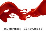 splash of red paint. 3d... | Shutterstock . vector #1148925866