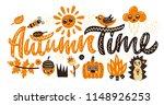 autumn time. cute vector... | Shutterstock .eps vector #1148926253