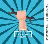 happy labor day card flat... | Shutterstock .eps vector #1148930753
