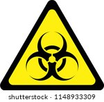 yellow warning sign with... | Shutterstock . vector #1148933309
