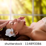 spa facial massage | Shutterstock . vector #114893386