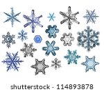 Collection Of Snowflakes Happy...