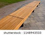 Street Wooden Bench In...