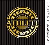 athlete gold shiny emblem   Shutterstock .eps vector #1148944190