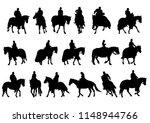 vintage knight on horseback on... | Shutterstock . vector #1148944766