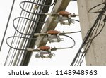 electric fuses and cables on... | Shutterstock . vector #1148948963