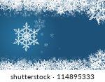 snowflake on blue | Shutterstock . vector #114895333
