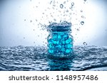 a jar of gel beads with water...   Shutterstock . vector #1148957486