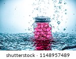a jar of gel beads with water...   Shutterstock . vector #1148957489