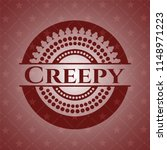 creepy realistic red emblem | Shutterstock .eps vector #1148971223