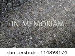 in memoriam inscribed in a... | Shutterstock . vector #114898174