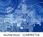 contemporary art. hand made art.... | Shutterstock . vector #1148982716