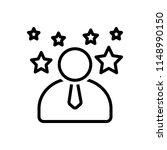 vector icon for expert  | Shutterstock .eps vector #1148990150