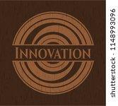 innovation realistic wood emblem | Shutterstock .eps vector #1148993096