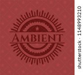 ambient badge with red... | Shutterstock .eps vector #1148993210