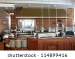 modern commercial kitchen in... | Shutterstock . vector #114899416