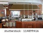 modern commercial kitchen in... | Shutterstock . vector #114899416