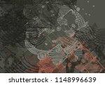 contemporary art. hand made art.... | Shutterstock . vector #1148996639
