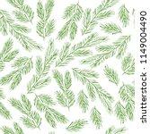 hand drawn pine branch...