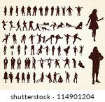 big collection of silhouettes | Shutterstock .eps vector #114901204
