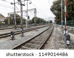 railway station in zagreb on a... | Shutterstock . vector #1149014486