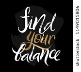 find your balance yoga poster.... | Shutterstock .eps vector #1149015806