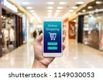 smart phone online shopping in... | Shutterstock . vector #1149030053