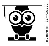 owl wearing glasses and mortar ... | Shutterstock .eps vector #1149031886