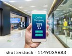 smart phone online shopping in... | Shutterstock . vector #1149039683