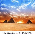egypt pyramid. historic... | Shutterstock . vector #114904960