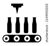 robotic arm working on... | Shutterstock .eps vector #1149053333