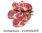 fresh pig meat stake isolated... | Shutterstock . vector #1149056459
