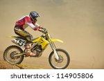 motocross bike in a race...