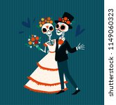 skeletons of the bride and... | Shutterstock .eps vector #1149060323
