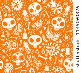 dia de los muertos seamless... | Shutterstock .eps vector #1149060326