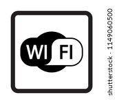 wi fi sign vector icon. | Shutterstock .eps vector #1149060500