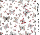 butterfly pattern. abstract... | Shutterstock . vector #1149070163