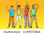 greeting. a group of people... | Shutterstock .eps vector #1149072866